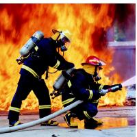 Wholesale firefighter uniform, firefighting fabric, flame retardant, EN469 from china suppliers
