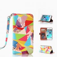 Wholesale Hottest Colorful Painted Pattern Flip Leather Case W/Stand For Iphone 6 Plus from china suppliers