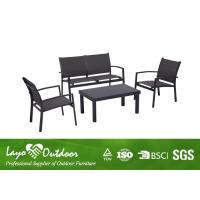 Wholesale Outdoor Balcony Furniture 4PCS Sling Fabric Sofa Set With Padding Inside Seat / Back from china suppliers