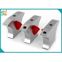 Wholesale Barcode Turnstile Security Gates / Automatic Access Control Flap Barrier Gate from china suppliers