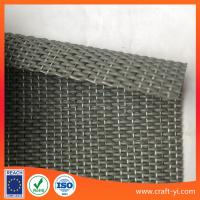 Wholesale textilene fabric in thick PVC coated wire 1*1 woven for door mat or foot pad from china suppliers