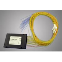 Buy cheap 9/125 um SMF-28e Type PLC Optical Fiber Splitter With ABS BOX (0.9, 2.0, 3.0mm) from wholesalers