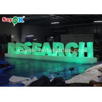 Wholesale 190T Nylon Cloth 1.3mH Inflatable LED Letter For Party Wedding Decoration from china suppliers