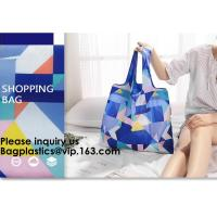 Wholesale POLYESTER NYLON BAGS, BASKET, ECO CARRIER, REUSABLE TOTE BAGS, SHOPPING HANDY HANDLE VEST, FOLDABLE from china suppliers