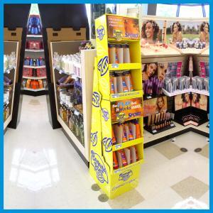 Wholesale Cosmetic Cardboard Floor Shelf Display, 6 tiers floor cardboard display from china suppliers