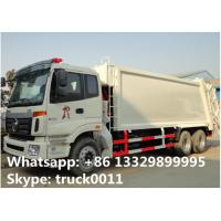 Wholesale Foton Auman 6*4 LHD 18m3 garbage compactor truck for sale, factory sale 18cbm compacted garbage truck from china suppliers