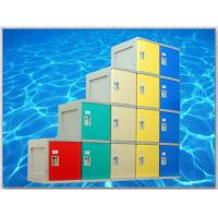 Wholesale 4 Tier Plastic Storage Lockers , Locker Room Lockers With Clover Lock / Door Blue from china suppliers