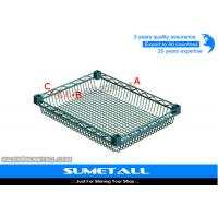 Wholesale Adjustable Wire Basket Shelves Chrome Wire Shelving for Home / Industrial from china suppliers