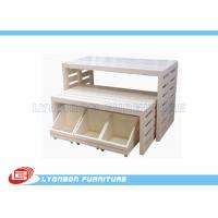 Wholesale White Customied MDF Retail Store Display Tables Sgs Iso , Paint Finished from china suppliers