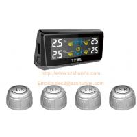 Buy cheap Factory wholesale solar power car tire pressure monitoring system LCD color screen with 4 external sensor from wholesalers