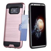 Wholesale Dual Layer PC / TPU Bumper Credit Card Holder Protective Case For Samsung Galaxy S8 from china suppliers
