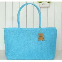 Wholesale high quality fashion straw beach bag, woven tote beach handbag, beach bag for vacation from china suppliers