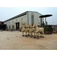 Wholesale Bronze warriors drive the carriage sculpture for decoration from china suppliers