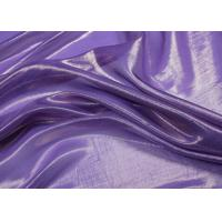 China Smooth Purple Silver Metallic Fabric 100% Silk With Woven Technic on sale