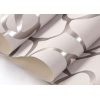 Quality Removable Non - woven Silver grey Modern Style Wallpaper with Embossed Floral Pattern for sale