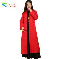 Wholesale 100% Cotton Long Chinese Coat , Soft Women Custom Embroidered Winter Jackets from china suppliers