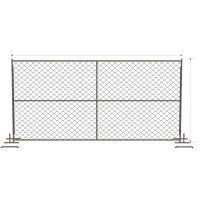 Wholesale Corss brace vertical and horizontal both of with brace 6ft x 12ft chain mesh temporary fence from china suppliers