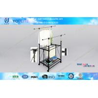 Wholesale Foldable Double Layer Telescopic Clothes Rack / Stainless Steel Clothes Hanging Rack for Towel from china suppliers