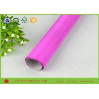 Quality Fancy Design Printed Roll Wrapping Paper Glitter / Velvet Treatment 70cm X 300cm for sale