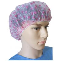 Wholesale Disposable PE Shower Cap with Heart-Shaped in Pink from china suppliers