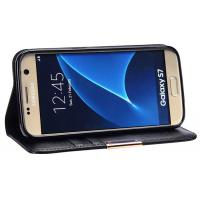 Wholesale Genuine Leather Phone Case Magnet Included Black For Samsung Galaxy S7 from china suppliers
