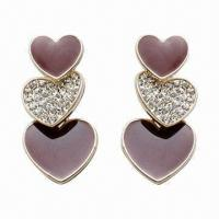 Wholesale Fashionable Earrings, Made of Alloy, Available in Various Styles from china suppliers