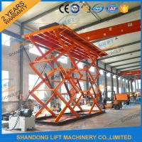 Quality 10T 8M Double Scissors Hydraulic Lift Hydraulic Large Scissor Cargo Lift CE SGS for sale