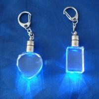 Wholesale 3D Laser Engraving Crystal Keychain/Keyring, Handmade, Measures 20 x 30 x 15mm from china suppliers