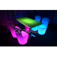 Wholesale Fashionable 4 seats Led Lounge Furniture Decoration lighted coffee table Chairs set for Dinning from china suppliers