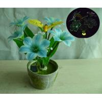 Quality Solar Fiber Optic Muti Artificial Flowers On A Flower Pot for sale