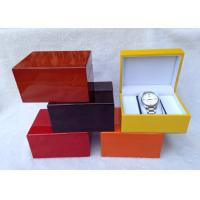 Wholesale Custom Made Wooden Watch Gift Box With Velvet Pillow , L145*W115*H80 MM from china suppliers