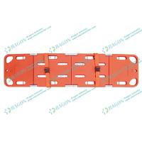 Wholesale First aid emergency four folding PE spine board stretcher for transfer patient from china suppliers