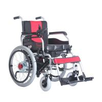 Portable Manual Brake Steel Manual / Electric Wheelchair With Potty 22 Inch Tyre 250w Motor
