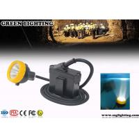 Wholesale Waterproof Coal Miners Headlamp , 6.2Ah Battery 3W Power LED Mining Lamp from china suppliers