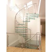 Quality Prefabricated Stainless Steel Glass Staircase for sale