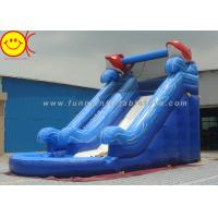 Wholesale Two Slides Blue Sea PVC Inflatable Water Slide With Pool For Adults / Kids from china suppliers
