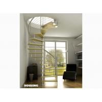 Wholesale Stainless steel Custom Spiral Staircases with satin finished,laminated glass Tread from china suppliers