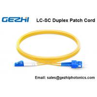 Quality OS2 9/125 Fiber Optic Patch Cord , SM Duplex FTTH Jumper Cord 30 meter Length for sale