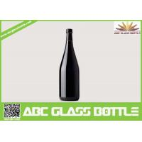 Wholesale wholesale 750ml black glass wine bottle with cork from china suppliers