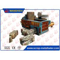 Wholesale Plc Auto Control Scrap Baling Machine Hydraulic Drive Side Push Out Discharging 5 Ton / H Output from china suppliers