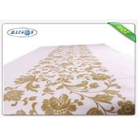 Wholesale Pre - cuted Clean And Soft Six Colors Printed Non Woven Tablecloth In Folded Packaging from china suppliers
