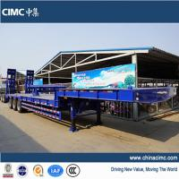 Wholesale 3 axles 50t lowbed trailer with twist lock from china suppliers