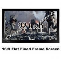 Wholesale Bright 3D Projector Screen 92inch Matt White DIY Fixed Frame 16:9 Projection Screens 1080p from china suppliers