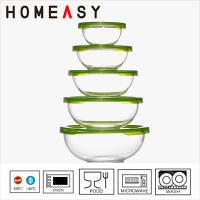 Wholesale Customize Pyrex Borosilicate Glass Bowl Set Oven Safe , 79mm Height from china suppliers