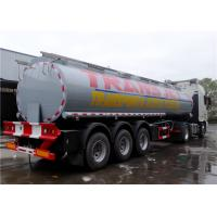 Quality Stainless Steel 30 Tons Fuel Tank Trailer Tri-Axle 35000L 35M3 Fuel Oil for sale
