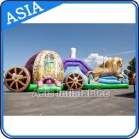 Wholesale Outdoor Inflatable Horse Carriage Jumping Castle with Slide For Children from china suppliers