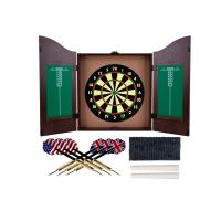 Wholesale Professional 18 Inches Bristle Dartboard , MDF Wooden Dartboard Cabinet Set from china suppliers
