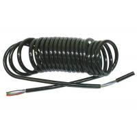 Coiled Electrical Cable : Coiled power cord curly electric cable for truck trailer