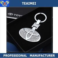 Wholesale Metal Key Holder Diamond Car Keychain 3D Different Car Logo from china suppliers