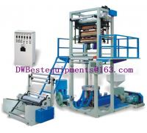 China Super High Speed Blowing Film Machine DW-SBFM-45,HDPE/ LDPE / LLDPE Film Blown Machinery on sale